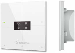 GRENTON SMART PANEL 4B, OLED, TF-Bus, biały | SPS-204-T-02
