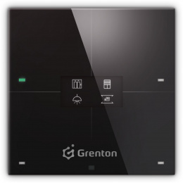 GRENTON SMART PANEL 4B, OLED, TF-Bus, czarny | SPS-204-T-01