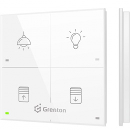 GRENTON TOUCH PANEL 4B CUSTOM ICONS TF-Bus, biały | TPA-404-T-02