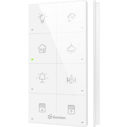GRENTON TOUCH PANEL 8B CUSTOM ICONS, biały | TPA-408-T-02